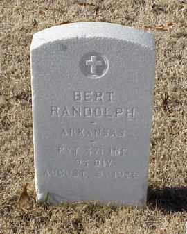 RANDOLPH (VETERAN UNION), BERT - Pulaski County, Arkansas | BERT RANDOLPH (VETERAN UNION) - Arkansas Gravestone Photos