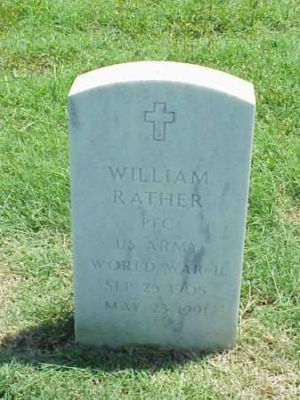 RATHER (VETERAN WWII), WILLIAM - Pulaski County, Arkansas | WILLIAM RATHER (VETERAN WWII) - Arkansas Gravestone Photos
