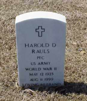 RAULS (VETERAN WWII), HAROLD D - Pulaski County, Arkansas | HAROLD D RAULS (VETERAN WWII) - Arkansas Gravestone Photos
