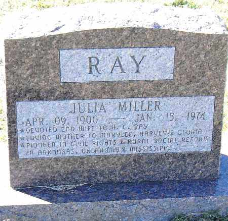 MILLER RAY, JULIA - Pulaski County, Arkansas | JULIA MILLER RAY - Arkansas Gravestone Photos