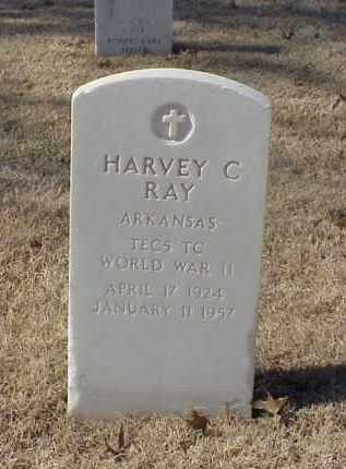 RAY (VETERAN WWII), HARVEY C - Pulaski County, Arkansas | HARVEY C RAY (VETERAN WWII) - Arkansas Gravestone Photos