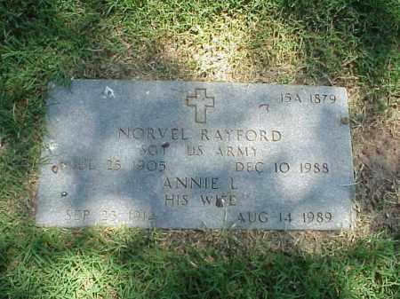 RAYFORD (VETERAN WWII), NORVEL - Pulaski County, Arkansas | NORVEL RAYFORD (VETERAN WWII) - Arkansas Gravestone Photos