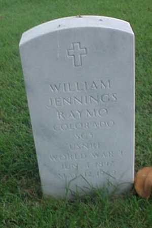 RAYMO (VETERAN WWI), WILLIAM JENNINGS - Pulaski County, Arkansas | WILLIAM JENNINGS RAYMO (VETERAN WWI) - Arkansas Gravestone Photos