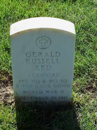 RED (VETERAN WWII), GERALD RUSSELL - Pulaski County, Arkansas | GERALD RUSSELL RED (VETERAN WWII) - Arkansas Gravestone Photos
