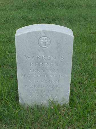 REDDEN (VETERAN WWI), WARREN B - Pulaski County, Arkansas | WARREN B REDDEN (VETERAN WWI) - Arkansas Gravestone Photos