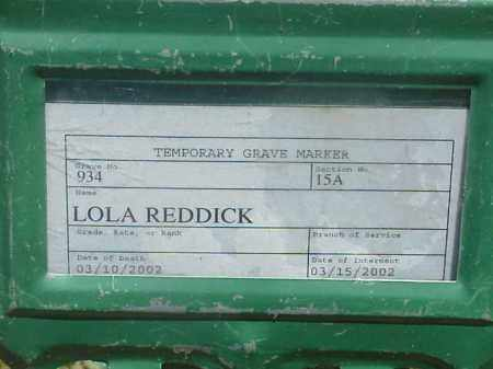 REDDICK, LOLA - Pulaski County, Arkansas | LOLA REDDICK - Arkansas Gravestone Photos