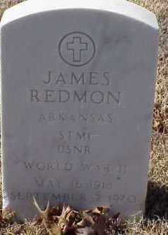 REDMON  (VETERAN WWII), JAMES - Pulaski County, Arkansas | JAMES REDMON  (VETERAN WWII) - Arkansas Gravestone Photos
