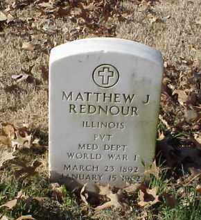 REDNOUR (VETERAN WWI), MATTHEW J - Pulaski County, Arkansas | MATTHEW J REDNOUR (VETERAN WWI) - Arkansas Gravestone Photos