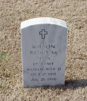 REDUS, SR (VETERAN WWII), WILSON - Pulaski County, Arkansas | WILSON REDUS, SR (VETERAN WWII) - Arkansas Gravestone Photos
