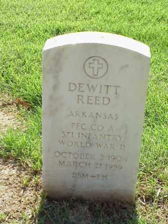 REED (VETERAN WWII), DEWITT - Pulaski County, Arkansas | DEWITT REED (VETERAN WWII) - Arkansas Gravestone Photos