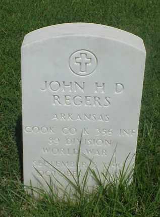 REGERS (VETERAN WWI), JOHN H D - Pulaski County, Arkansas | JOHN H D REGERS (VETERAN WWI) - Arkansas Gravestone Photos