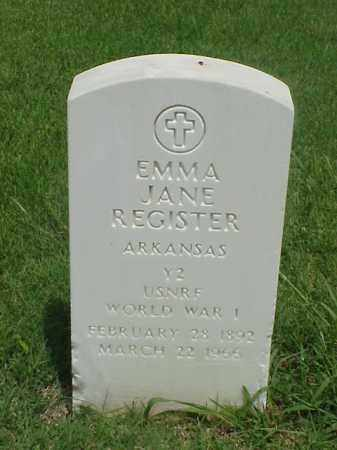 REGISTER (VETERAN WWI), EMMA JANE - Pulaski County, Arkansas | EMMA JANE REGISTER (VETERAN WWI) - Arkansas Gravestone Photos