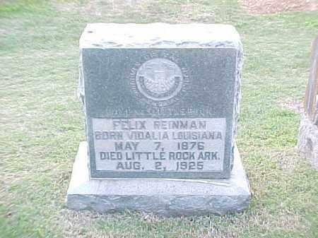 REINMAN, FELIX - Pulaski County, Arkansas | FELIX REINMAN - Arkansas Gravestone Photos