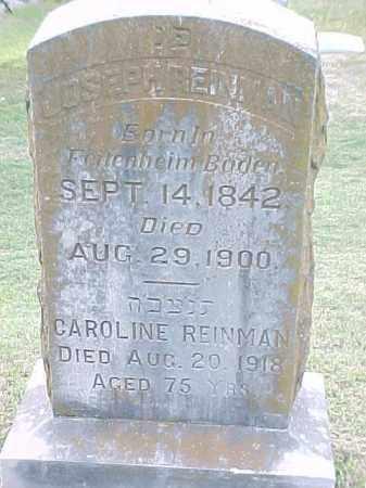REINMAN, CAROLINE - Pulaski County, Arkansas | CAROLINE REINMAN - Arkansas Gravestone Photos