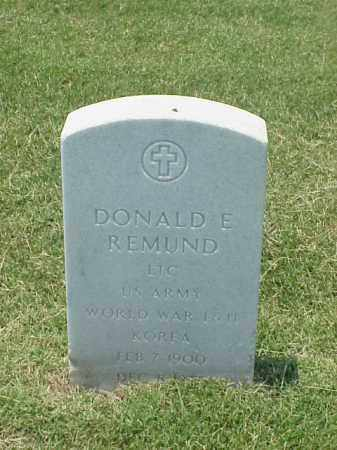 REMUND (VETERAN 3 WARS), DONALD E - Pulaski County, Arkansas | DONALD E REMUND (VETERAN 3 WARS) - Arkansas Gravestone Photos