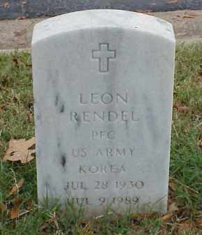 RENDEL (VETERAN KOR), LEON - Pulaski County, Arkansas | LEON RENDEL (VETERAN KOR) - Arkansas Gravestone Photos