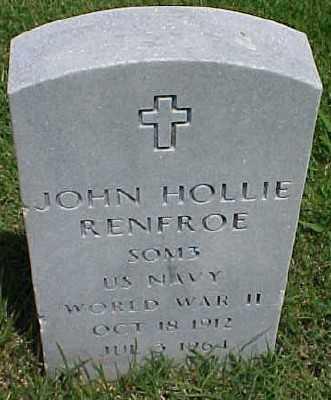 RENFROE (VETERAN WWII), JOHN HOLLIE - Pulaski County, Arkansas | JOHN HOLLIE RENFROE (VETERAN WWII) - Arkansas Gravestone Photos