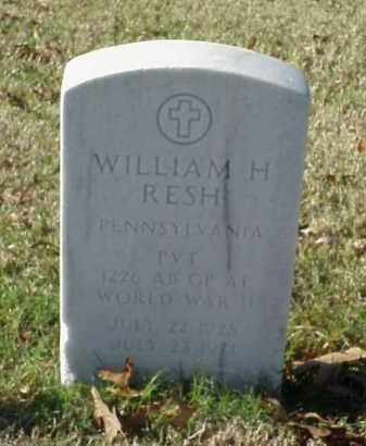 RESH (VETERAN WWII), WILLIAM HARRY - Pulaski County, Arkansas | WILLIAM HARRY RESH (VETERAN WWII) - Arkansas Gravestone Photos