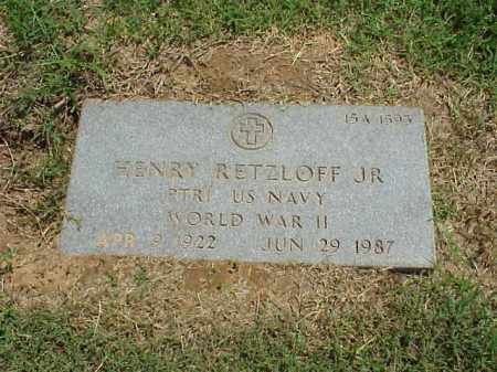 RETZLOFF, JR (VETERAN WWII), HENRY - Pulaski County, Arkansas | HENRY RETZLOFF, JR (VETERAN WWII) - Arkansas Gravestone Photos