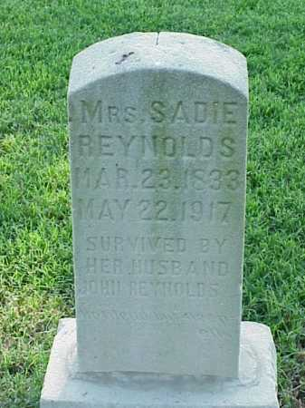 REYNOLDS, SADIE - Pulaski County, Arkansas | SADIE REYNOLDS - Arkansas Gravestone Photos