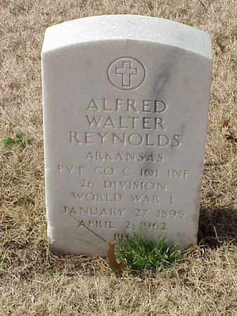 REYNOLDS (VETERAN WWI), ALFRED WALTER - Pulaski County, Arkansas | ALFRED WALTER REYNOLDS (VETERAN WWI) - Arkansas Gravestone Photos