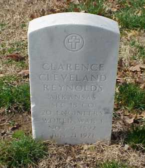 REYNOLDS (VETERAN WWI), CLARENCE CLEVELAND - Pulaski County, Arkansas | CLARENCE CLEVELAND REYNOLDS (VETERAN WWI) - Arkansas Gravestone Photos