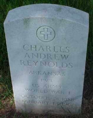 REYNOLDS (VETERAN WWI), CHARLES ANDREW - Pulaski County, Arkansas | CHARLES ANDREW REYNOLDS (VETERAN WWI) - Arkansas Gravestone Photos