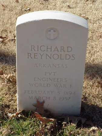REYNOLDS (VETERAN WWI), RICHARD - Pulaski County, Arkansas | RICHARD REYNOLDS (VETERAN WWI) - Arkansas Gravestone Photos