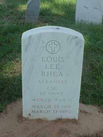 RHEA (VETERAN WWII), LOUIS LEE - Pulaski County, Arkansas | LOUIS LEE RHEA (VETERAN WWII) - Arkansas Gravestone Photos
