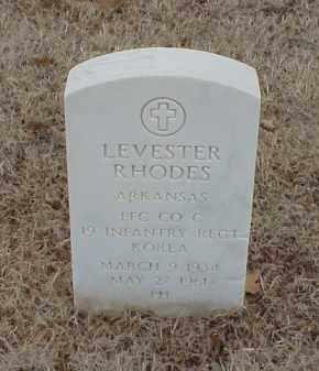 RHODES  (VETERAN KOR), LEVESTER - Pulaski County, Arkansas | LEVESTER RHODES  (VETERAN KOR) - Arkansas Gravestone Photos
