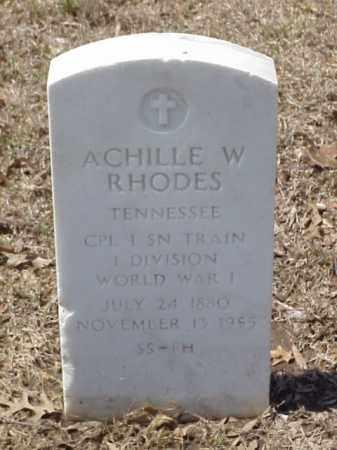 RHODES  (VETERAN WWI), ACHILLE W - Pulaski County, Arkansas | ACHILLE W RHODES  (VETERAN WWI) - Arkansas Gravestone Photos