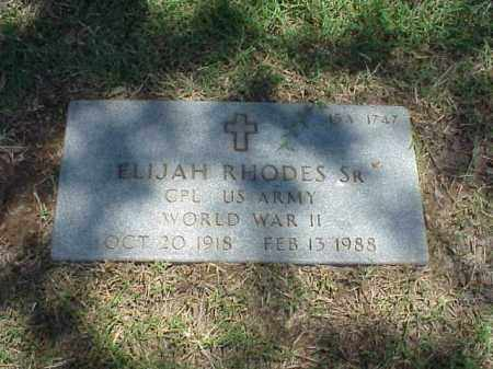 RHODES, SR (VETERAN WWII), ELIJAH - Pulaski County, Arkansas | ELIJAH RHODES, SR (VETERAN WWII) - Arkansas Gravestone Photos