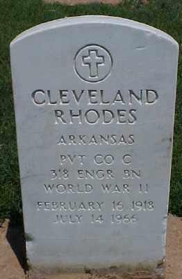 RHODES (VETERAN WWII), CLEVELAND - Pulaski County, Arkansas | CLEVELAND RHODES (VETERAN WWII) - Arkansas Gravestone Photos