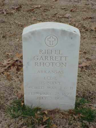 RHOTON (VETERAN 2 WARS), RIFFELL GARRETT - Pulaski County, Arkansas | RIFFELL GARRETT RHOTON (VETERAN 2 WARS) - Arkansas Gravestone Photos