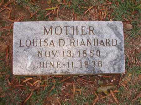 RIANHARD, LOUISA D - Pulaski County, Arkansas | LOUISA D RIANHARD - Arkansas Gravestone Photos