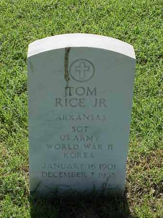 RICE, JR (VETERAN 2 WARS), TOM - Pulaski County, Arkansas | TOM RICE, JR (VETERAN 2 WARS) - Arkansas Gravestone Photos