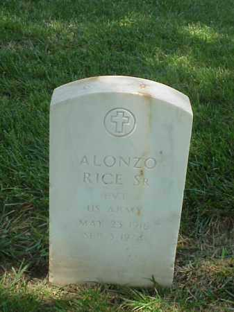 RICE, SR (VETERAN WWII), ALONZO - Pulaski County, Arkansas | ALONZO RICE, SR (VETERAN WWII) - Arkansas Gravestone Photos