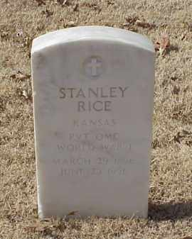 RICE (VETERAN WWI), STANLEY - Pulaski County, Arkansas | STANLEY RICE (VETERAN WWI) - Arkansas Gravestone Photos