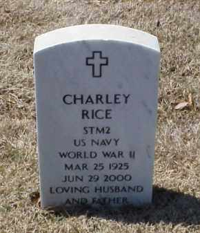 RICE (VETERAN WWII), CHARLEY - Pulaski County, Arkansas | CHARLEY RICE (VETERAN WWII) - Arkansas Gravestone Photos