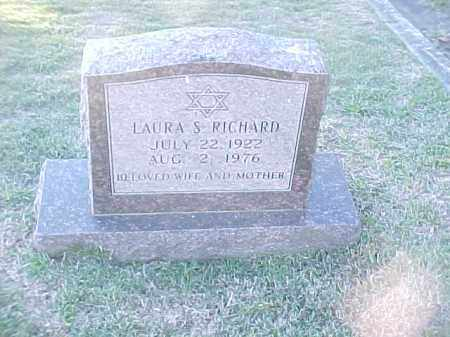 RICHARD, LAURA S - Pulaski County, Arkansas | LAURA S RICHARD - Arkansas Gravestone Photos