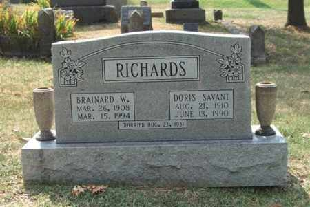 SAVANT RICHARDS, DORIS - Pulaski County, Arkansas | DORIS SAVANT RICHARDS - Arkansas Gravestone Photos