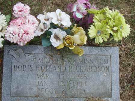 HOLLAND RICHARDSON, DORIS - Pulaski County, Arkansas | DORIS HOLLAND RICHARDSON - Arkansas Gravestone Photos
