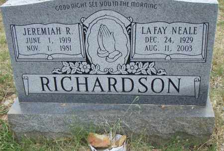 NEALE RICHARDSON, LAFAY - Pulaski County, Arkansas | LAFAY NEALE RICHARDSON - Arkansas Gravestone Photos