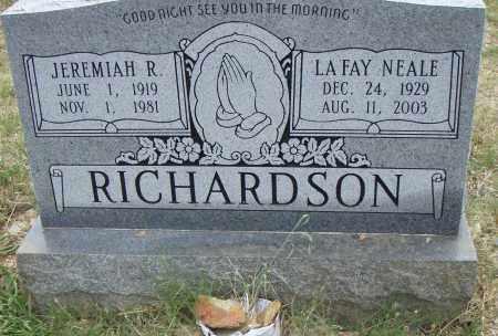 RICHARDSON, JEREMIAH R. - Pulaski County, Arkansas | JEREMIAH R. RICHARDSON - Arkansas Gravestone Photos