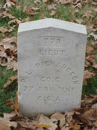 RICHARDSON (VETERAN CSA), PRIOR L - Pulaski County, Arkansas | PRIOR L RICHARDSON (VETERAN CSA) - Arkansas Gravestone Photos