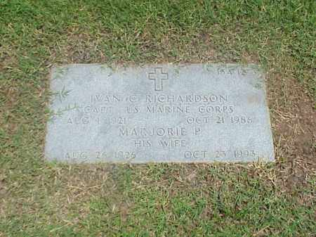 RICHARDSON (VETERAN 2 WARS), IVAN C - Pulaski County, Arkansas | IVAN C RICHARDSON (VETERAN 2 WARS) - Arkansas Gravestone Photos