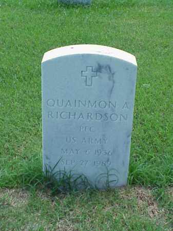 RICHARDSON (VETERAN), QUAINMON A - Pulaski County, Arkansas | QUAINMON A RICHARDSON (VETERAN) - Arkansas Gravestone Photos