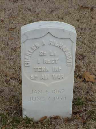 RICHARDSON (VETERAN UNION), CHARLES A - Pulaski County, Arkansas | CHARLES A RICHARDSON (VETERAN UNION) - Arkansas Gravestone Photos