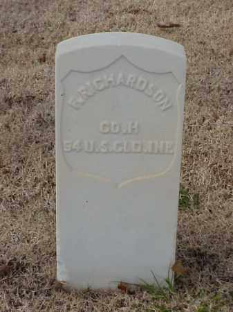 RICHARDSON (VETERAN UNION), FRANKLIN - Pulaski County, Arkansas | FRANKLIN RICHARDSON (VETERAN UNION) - Arkansas Gravestone Photos