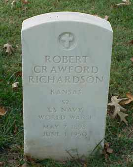 RICHARDSON (VETERAN WWI), ROBERT CRAWFORD - Pulaski County, Arkansas | ROBERT CRAWFORD RICHARDSON (VETERAN WWI) - Arkansas Gravestone Photos